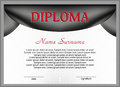 Template diploma or certificate . Vector