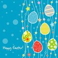 Template Easter greeting card Royalty Free Stock Photo
