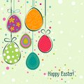 Template easter greeting card vector illustration Stock Image