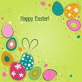 Template easter greeting card vector illustration Royalty Free Stock Photo