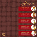 Template for flyer and banner. Vector Illustration with men and women drinking coffee.