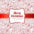 Template frame design for xmas card this is file of eps format Stock Image