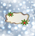 Template frame with mistletoe Royalty Free Stock Photo