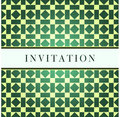 Template green design for invitation Royalty Free Stock Image