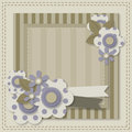 Template of greeting card or album page empty layout with flowers and frames Stock Image