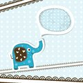 Template greeting card vector scrap illustration Stock Photography