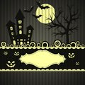 Template Halloween greeting card, vector Stock Photography