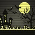 Template Halloween greeting card, vector Royalty Free Stock Image
