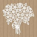 A template for laser cutting. Bouquet of flowers. Royalty Free Stock Photo