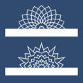 Template for laser cutting with mandala. Can be used for greeting cards