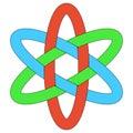 Template logo RGB interlocking ovals weave ellipses