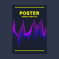 Template for a magazine about music, modern poster.