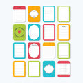 Template for notebooks. Collection of various note papers. Notes, labels, stickers. Cute design elements