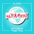 Template of poster for International Yoga Day.