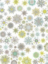 Template Retro Snowflakes background. EPS 8 Stock Photography