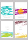 Template. Set of creative ink cards Royalty Free Stock Photo