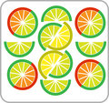 Template of sliced lemon and orange -2 Royalty Free Stock Photography