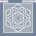 Template square greeting cards laser cut. Suitable for wedding invitations.
