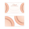 Template of the summer sea banner. Vector background with seashells. Place under the text. It is executed in a orange color.