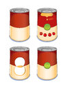 Template tin can tomato soup on white background created in adobe illustrator image contains gradients and gradient meshes eps Stock Photo