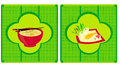 Template of traditional japanese food menu illustration Royalty Free Stock Photos
