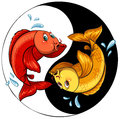 Template of two fishes Royalty Free Stock Photo