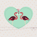 Template Valentine greeting card with loving  pair Stock Photography