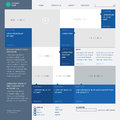 Template website built on the column grid web site metro style infographics or layout vector Royalty Free Stock Photography