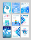 Templates design set of web mail brochures mobile technology and infographic concept modern flat and line icons app ui interface Royalty Free Stock Photos