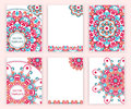 Templates for flyer, banner, brochure, placard, poster, greeting card. Abstract backgrounds with colorful mandalas.