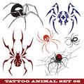 Templates spider for tattoo Royalty Free Stock Photos