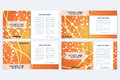 Templates for square brochure. Leaflet cover presentation.