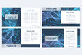 Templates for square brochure. Leaflet cover presentation. Business, science, technology design book layout. Scientific Royalty Free Stock Photo