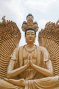 At the temple of the 10000 Buddhas Stock Photography