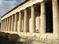 Temple antique grec Photo libre de droits