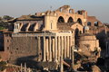 Temple of antonino and faustina in the roman forum rome italy Royalty Free Stock Photos