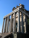 Temple of Antoninus and Faustina Stock Photography