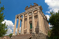 Temple of antoninus and faustina Stock Images