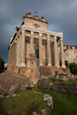 Temple of antoninus and faustina ancient roman adapted to the church san lorenzo in miranda it stands in the forum Royalty Free Stock Photography