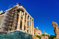 Temple of antoninus and faustina in the roman forum italy Royalty Free Stock Image