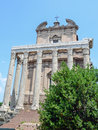 Temple of antoninus and faustina roman forum rome Stock Photo