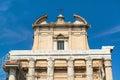 The temple of antoninus and faustina in roman forum rome church san lorenzo miranda italy Royalty Free Stock Images