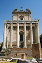 Temple of antoninus and faustina in the roman forum rome italy Royalty Free Stock Photo