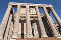 Temple of antoninus and faustina in the roman forum rome italy Royalty Free Stock Image