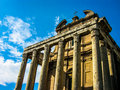 Temple of antoninus and faustina a view the in the forum romanum Stock Photography