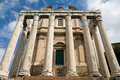Temple of Antonius and Faustina Royalty Free Stock Photos