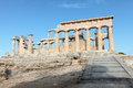 Temple of Aphaia in Aegina Royalty Free Stock Photos