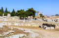 Temple of Apollo in ancient Corinth, Greece Royalty Free Stock Image
