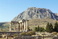 Temple of apollo in ancient corinth greece the ruins the Stock Photo