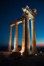Temple of apollo ancient ruins side antalya turkey Stock Photos
